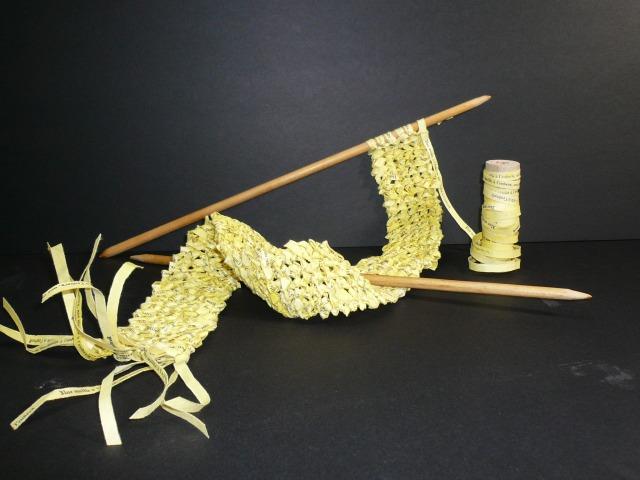 Irène Boulanger - Livre tricoté