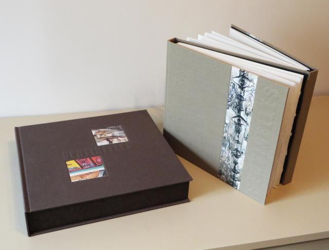 Sentinelles - Livre et coffret réalisés par Fernand Pelletier en 2014 avec des poèmes de Dominique Amyot et des photos de Raymonde Lamothe