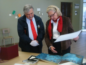 Avec M. Louis Vadeboncœur, maire de Notre-Dame-du-Portage